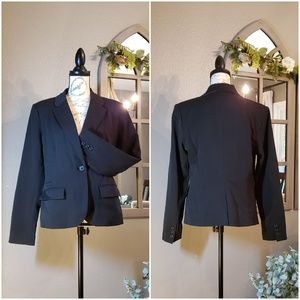 Merona Black One Button Blazer Sz 12